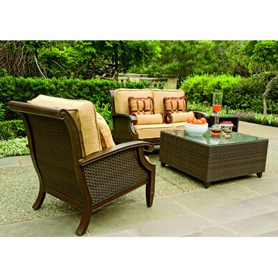 Woodard Del Cristo Deep Seating Group with Cushions