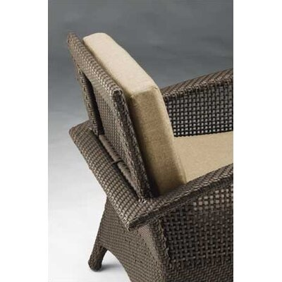 Woodard Trinidad Wicker Dining Arm Chair with Cushion