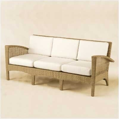 Woodard Trinidad Wicker Sofa with Cushions