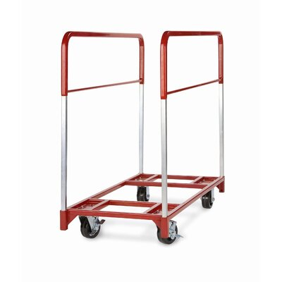 "Raymond Products Narrow Folding Round Table Mover with 2 Fixed and 2 Swivel 5"" Phenolic Casters"