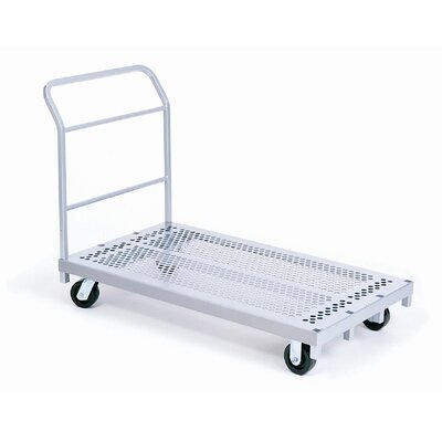 Raymond Products Heavy Duty Platform Truck, Phenolic Casters, 2 Fixed and 2 Swivel, 1 Push Handle