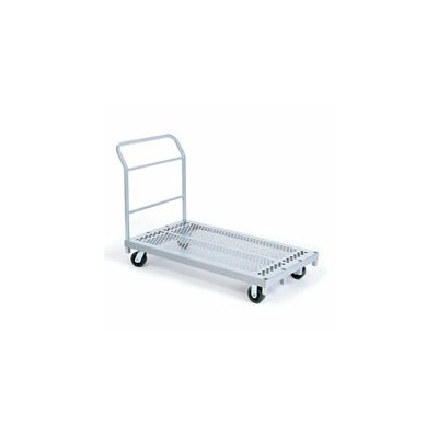 Raymond Products Heavy Duty Platform Truck, Phenolic Casters, All Swivel, 1 Push Handle