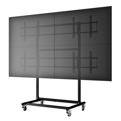 Micro-Adjustable Mobile Video Wall Cart/Stand