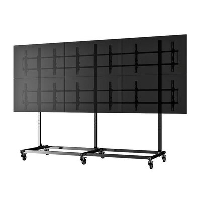 Micro-Adjustable Video Wall Cart/Stand