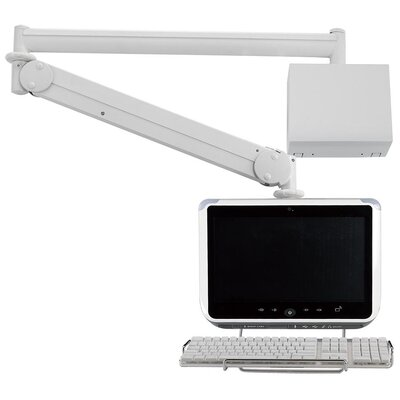 Cotytech Long Reach LCD Monitor Arm with Wall Box / Keyboard Holder