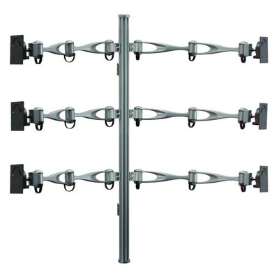 Cotytech Monitor Wall Mount for Six Monitors Vertical