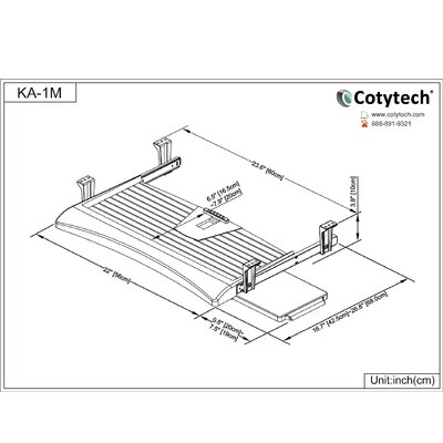 Cotytech Keyboard Tray Regular