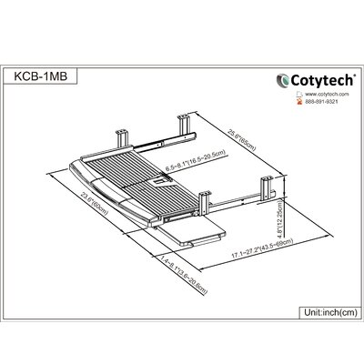 Cotytech Keyboard Mouse Tray in Black