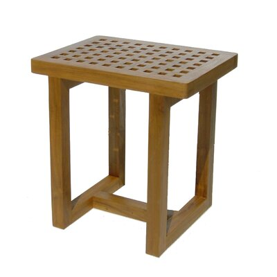 Grate Teak Shower Stool