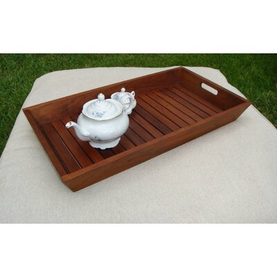 Aqua Teak Solid Teak Serving and Storage Tray