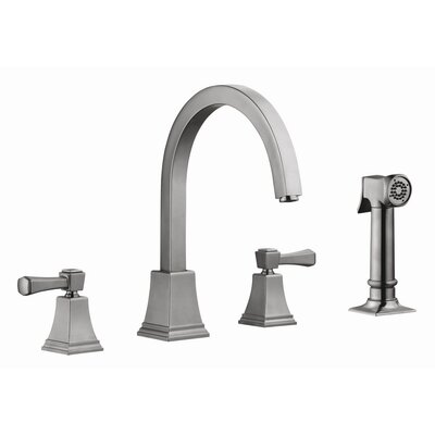 Torino Double Handle Kitchen Faucet with Sprayer