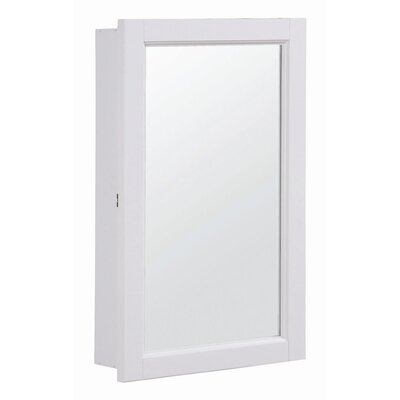 "Design House Concord 16"" x 26"" Single Door Medicine Cabinet with Mirror"