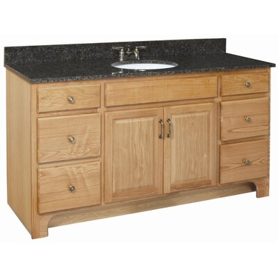 "Design House Richland 60"" Double Door 4 Drawers Cabinet Vanity Base"