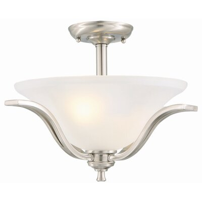 Design House Ironwood 2 Light Semi Flush Mount