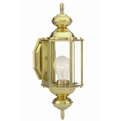 Design House Augusta 1 Light Outdoor Wall Lantern