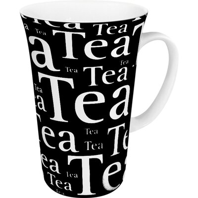 Konitz Tea Writing Mega Mug in Black