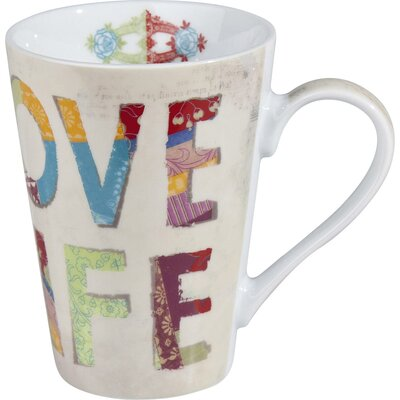 Konitz Love Life 13 oz. Mug (Set of 2)