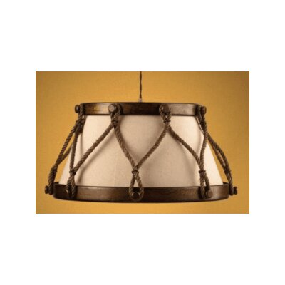 Lustrarte Lighting Rustik Tambor 4 Light Drum Pendant