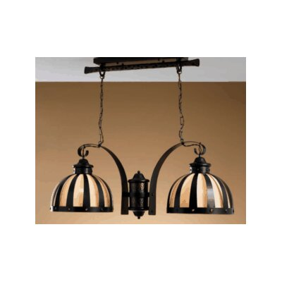 Lustrarte Lighting Rustik Armada Two Light Chandelier