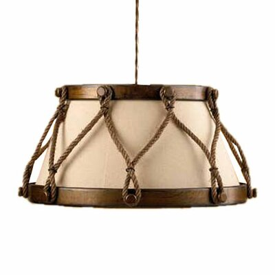 Lustrarte Lighting Rustik Tambor 1 Light Large Drum Pendant