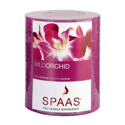 Light In the Dark Wild Orchid Scented Rustic Pillar Candle