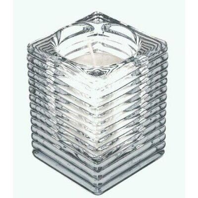 Light In the Dark Glass Votive Tealight Holder with Candle