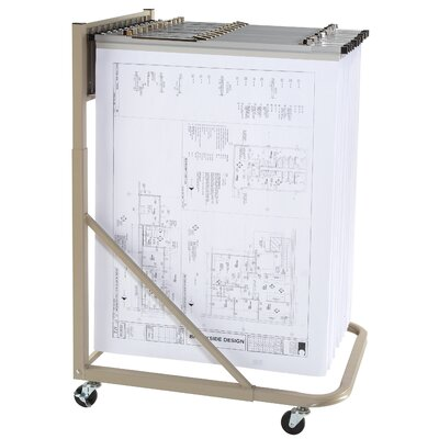 Brookside Design Vertical Mobile Rack Filing Cart