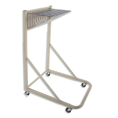 Brookside Design Vertical Mobile Rack with 12 Pivot Hangers in Sand Beige