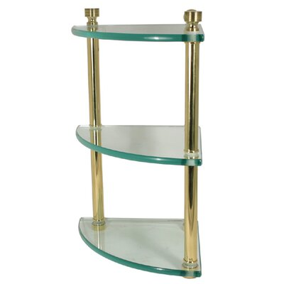 Allied Brass Universal Triple Corner Glass Shelf