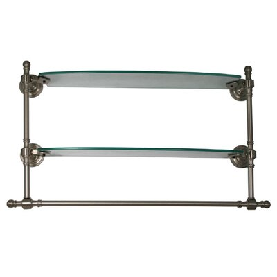 Allied Brass Retro Wave Double Shelf with Towel Bar