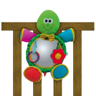 edushape Turtle Soft Mirror Crib Toy
