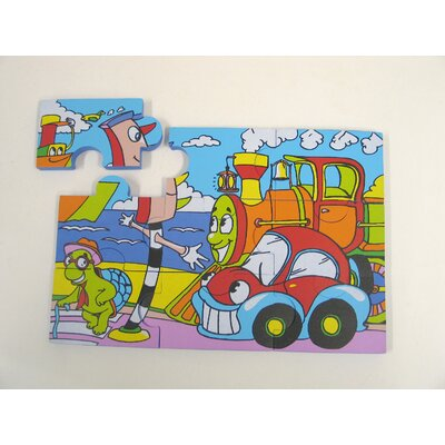 edushape Sea Life and Traffic Foam Jigsaw Puzzle Set