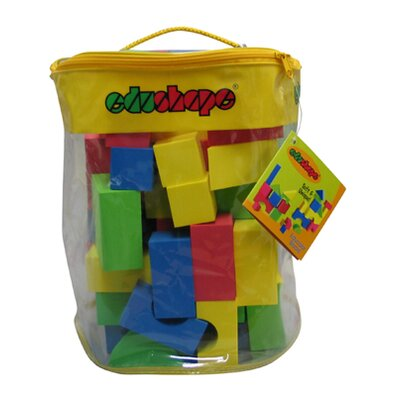 edushape Soft & Unique Blocks 80 Pieces