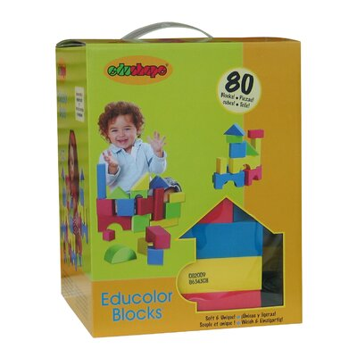 edushape Educolor Toy Blocks Set