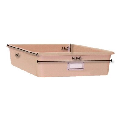 The Fabri-Form Co Wide Rectangular Storage Tray