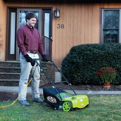 Sun Joe Aerator Joe Electric Dethatcher with Collection Bag
