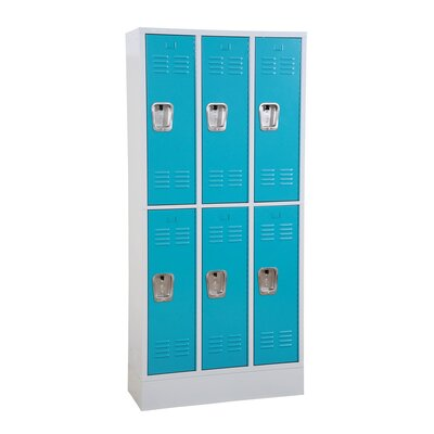 Winport Industries Winport Morgan 3-Wide Double Tier Locker