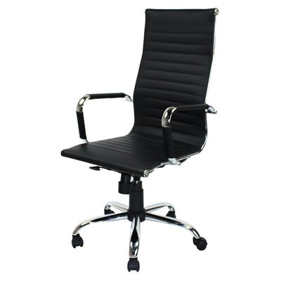 Winport Industries High-Back Leather Executive Swivel Office Chair