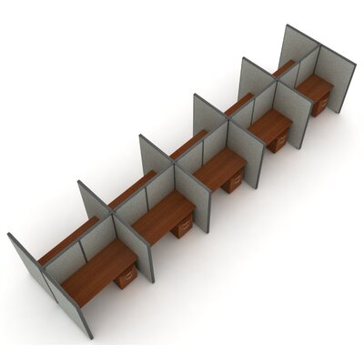 OFM X5 Privacy Station Panel System 2x5 Configuration
