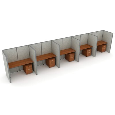 OFM X5 Privacy Station Panel System 1x5 Configuration