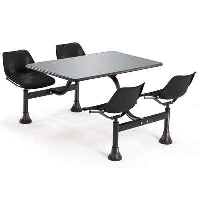 OFM Group/Cluster Table and Chairs Picnic Table with Stainless Steel Top