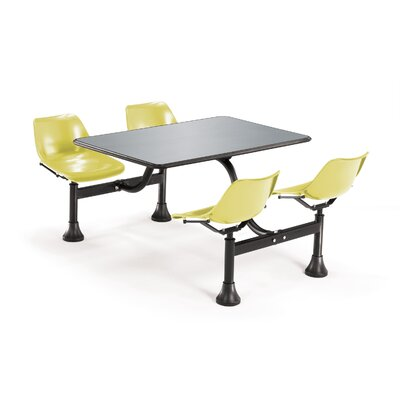 "OFM 24""x48""  Group/Cluster Table and Chairs with Stainless Steel Top"