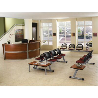 OFM Triple Unit Curved Stylish Reception Station with Executive / Conference Chair Suite