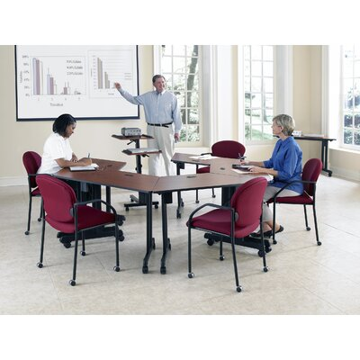 OFM Trapezoid Multi-Use Versatile Table with Guest/Reception Chair Suite