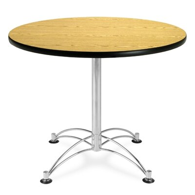 "OFM 36"" Round Multi-Purpose Polished Aluminum Table"