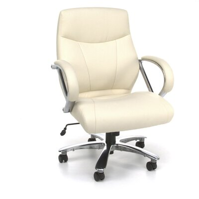 OFM Mid-Back Synthetic Leather Executive Office Chair with Arms