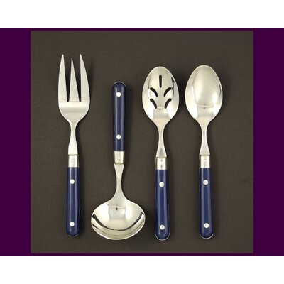 Stainless Steel LePrix 4 Piece Hostess Set in Navy