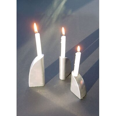 Ginkgo George Schmidt Metal Candlesticks (Set of 3)