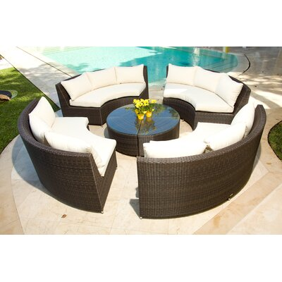 Source Outdoor Circa 1/4 Round Coffee Table