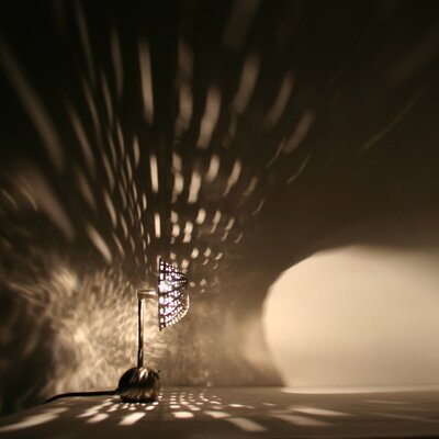 "Lightexture Steamlight Micro 10"" H Table Lamp"